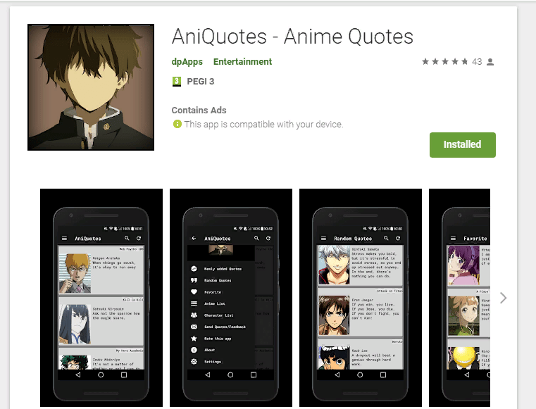 Download The NEW AniQuotes App for All Your Favorite Anime Quotes