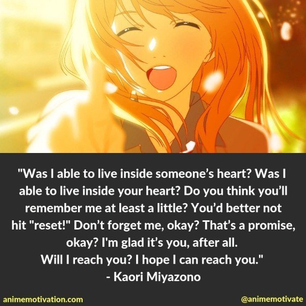 The Only Meaningful Quotes From Your Lie In April You Need To See