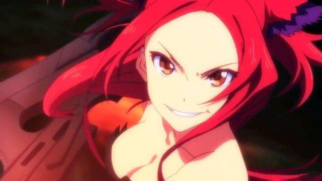 beatless anime red hair girl