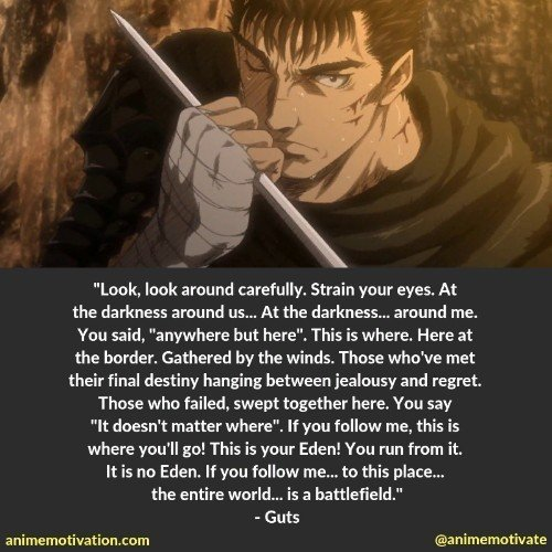 25 Deep Quotes From Berserk About Life And Hardships