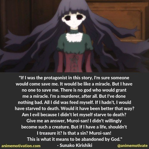 A Collection Of The BEST Anime Quotes From Shiki About Life & Despair