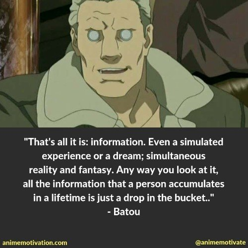 batou quotes ghost in the shell