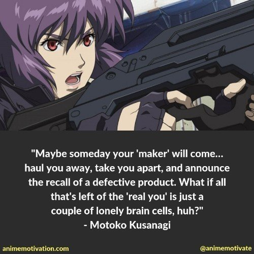 motoko kusanagi quotes 9