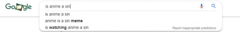 is anime a sin google