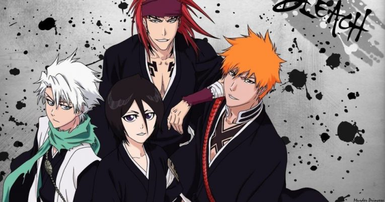 ichigo rukia toshiro and renji wallpaper