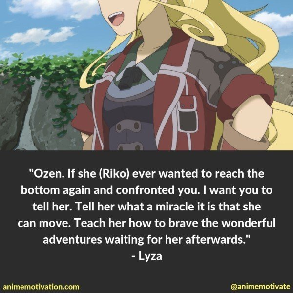 lyza made in abyss quotes