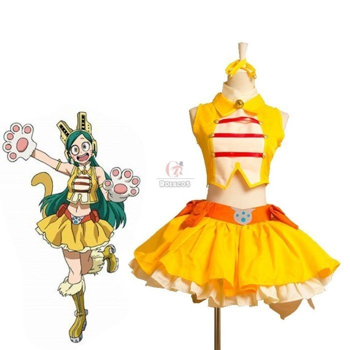 my hero academia pussy cat three colors cosplay costume 18