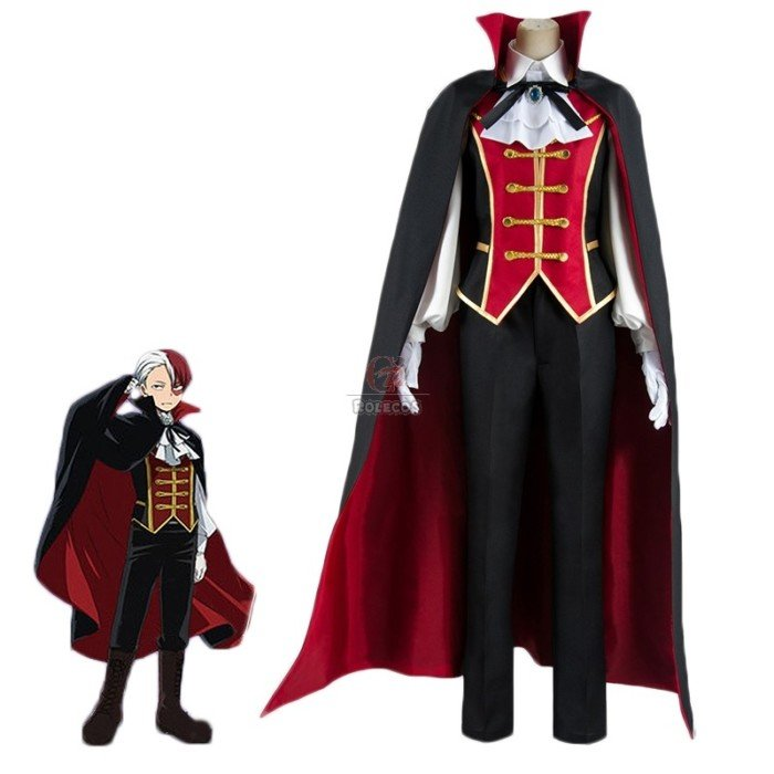 my hero academia sh to todoroki anime halloween vampire cosplay costume 2