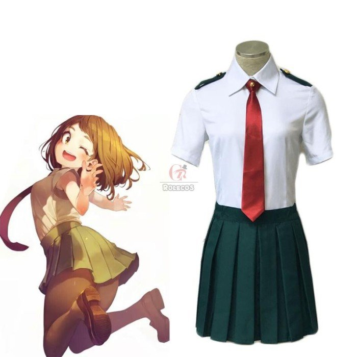 my hero academia summer short sleeve uniform cosplay costumes 3
