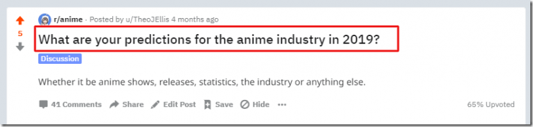 reddit anime question