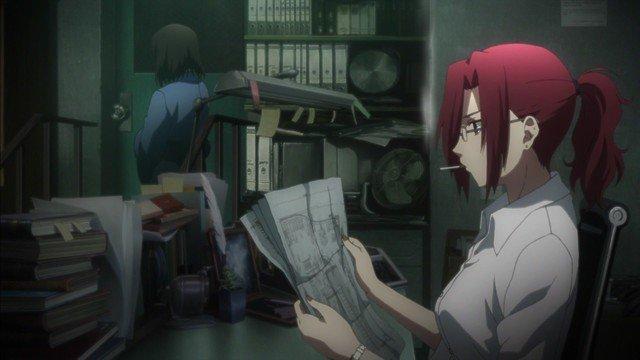 touko aozaki smoking reading