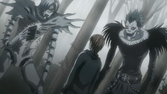 death note anime shinighami and light