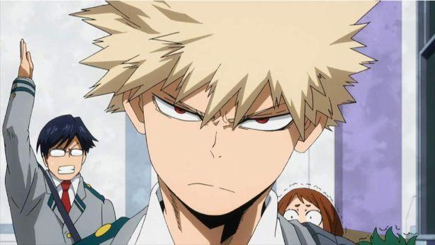 Anime character short blonde hair