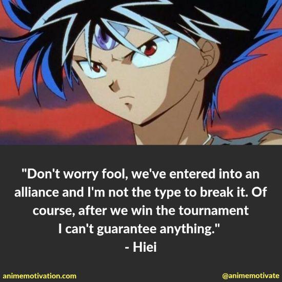 hiei yu yu hakusho quotes 12