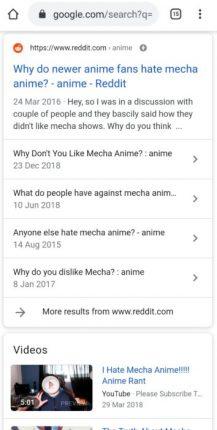 mecha anime genre hated