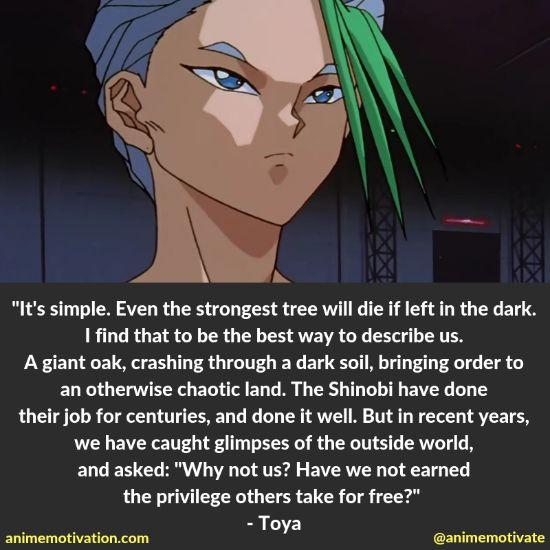 toya quotes yu yu hakusho
