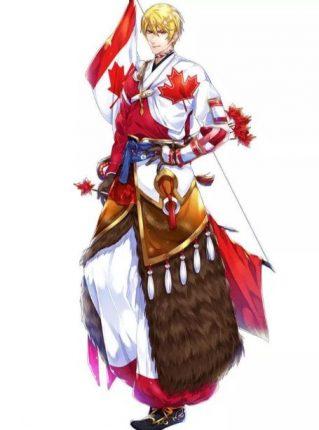 Canada anime flag character