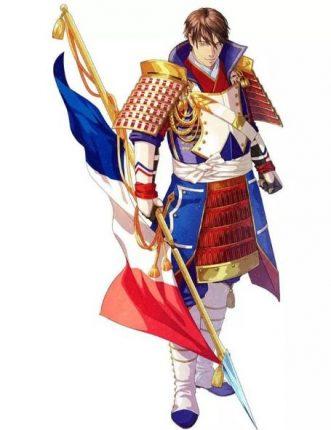 France anime character flag
