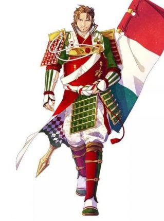 Italy anime flag