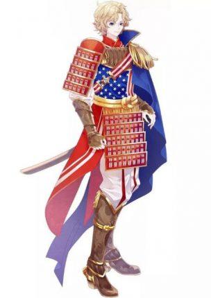 USA anime flag country character