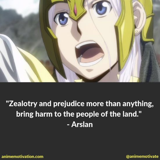 """All Of The Best Quotes Taken From """"The Heroic Legend Of Arslan"""" Anime 6"""