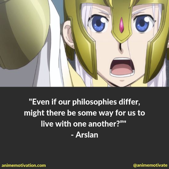 """All Of The Best Quotes Taken From """"The Heroic Legend Of Arslan"""" Anime 13"""
