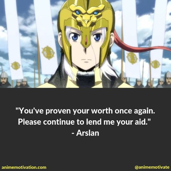 """All Of The Best Quotes Taken From """"The Heroic Legend Of Arslan"""" Anime 14"""