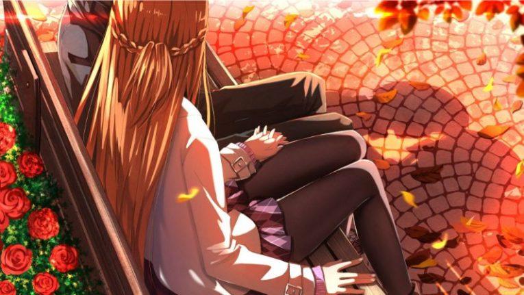 asuna and kirito sitting down bench
