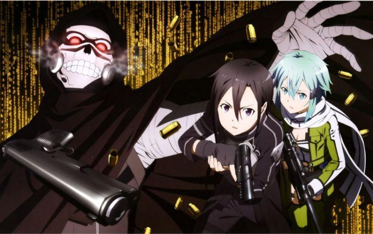 death gun kirito and sinon wallpaper