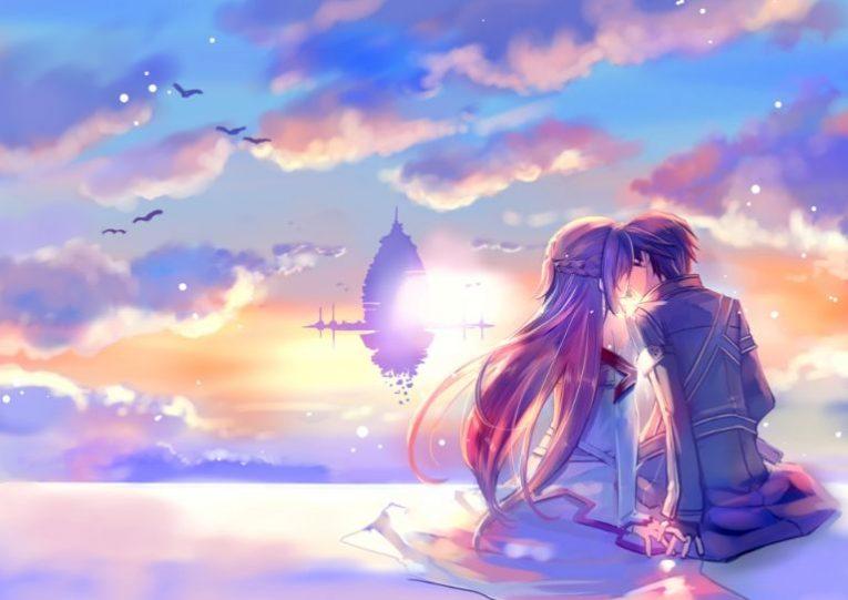 kirito and asuna kissing wallpaper
