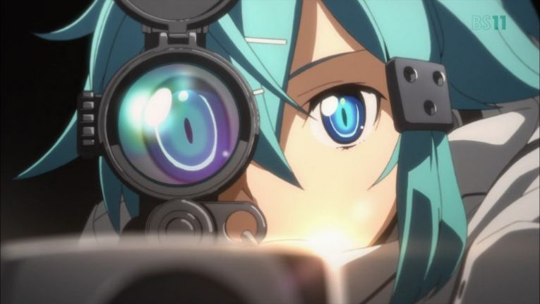 sinon sniper rifle hecate wallpaper