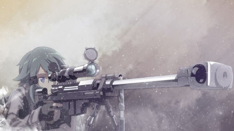 sinon sniper wallpaper