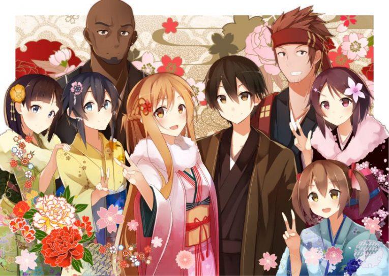 sword art online characters cool wallpaper