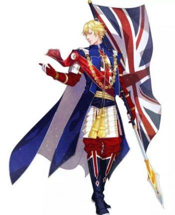 united kingdom anime flag