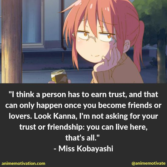 14+ Miss Kobayashi's Dragon Maid Quotes That Will Hit Anime Fans In The Feels 5