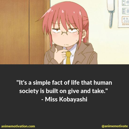 14+ Miss Kobayashi's Dragon Maid Quotes That Will Hit Anime Fans In The Feels 7