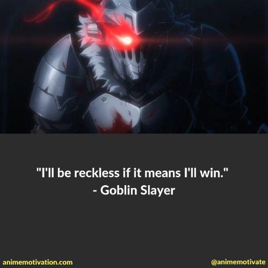 Goblin slayer quotes 1