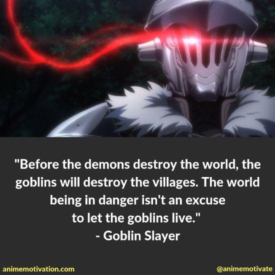Goblin slayer quotes 5