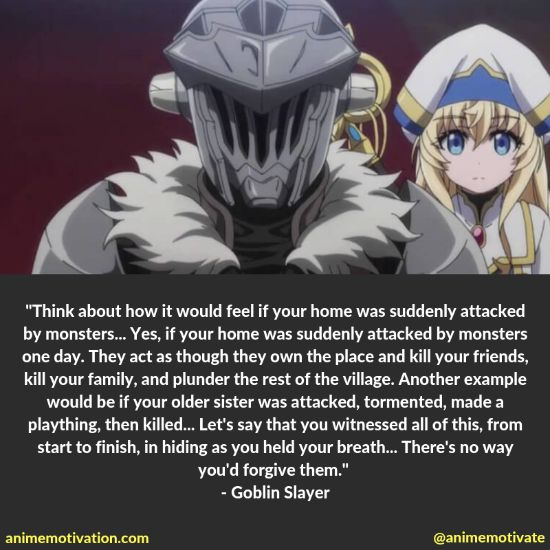 Goblin slayer quotes
