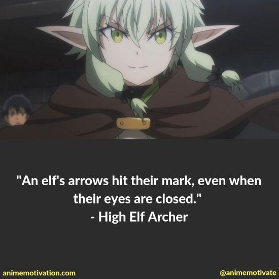 High Elf Archer quotes goblin slayer 2