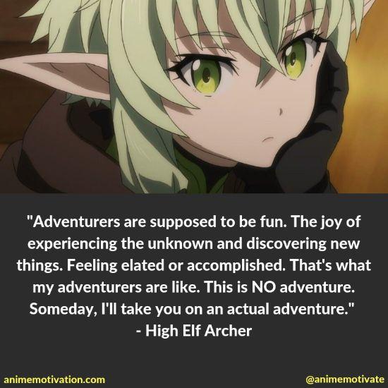 High Elf Archer quotes goblin slayer