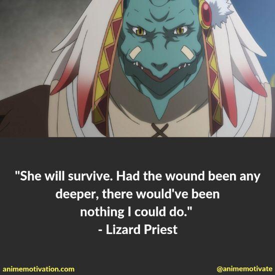 Lizard priest quotes goblin slayer