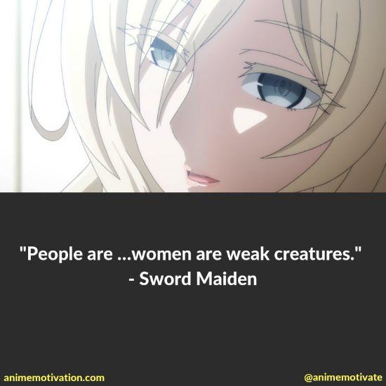 Sword Maiden quotes goblin slayer 3