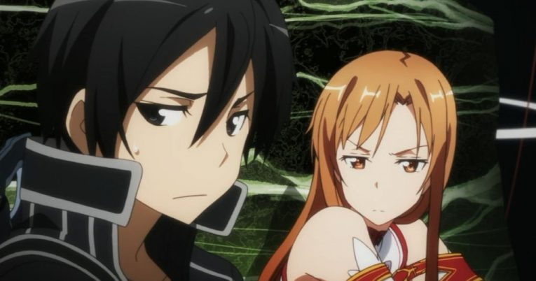 kirito and asuna funny face