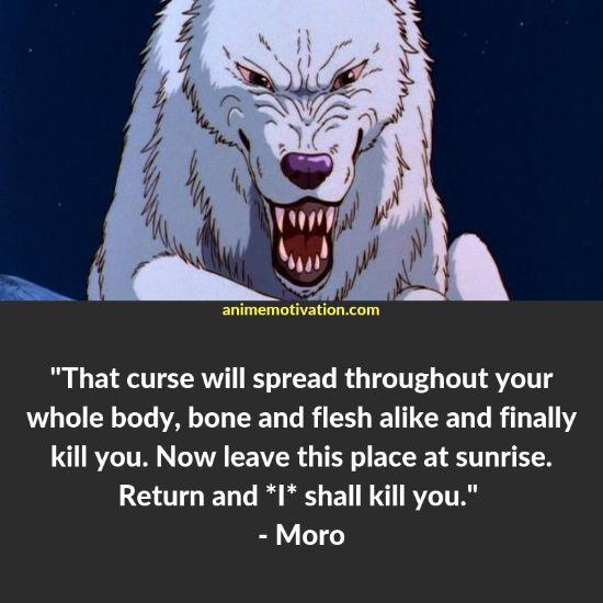 moro quotes princess mononoke