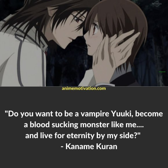 64+ Of The Greatest Vampire Knight Quotes About Life & Romance 44