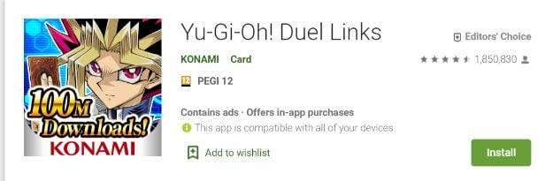 yugioh duel links game