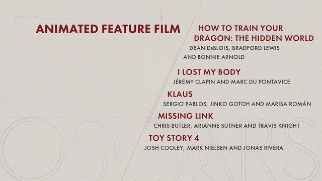 animated feature film oscars anime