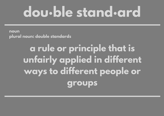 double standards meaning
