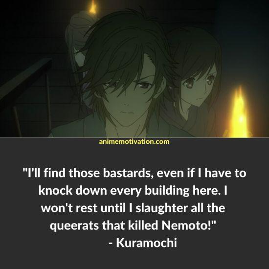 Kuramochi quotes Shinsekai Yori